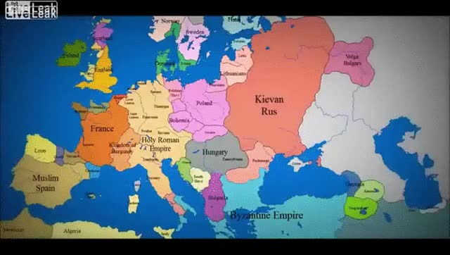 Watch 1000 years of European borders change GIF by @benjaab123 on Gfycat. Discover more europe, interestingasfuck GIFs on Gfycat