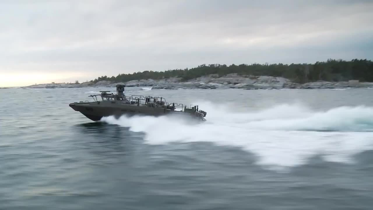 militaryweaponsgfys, warshipgfys, Saab - Trackfire RWS SILOS Live Firing Sea Trials [1080p] (reddit) GIFs