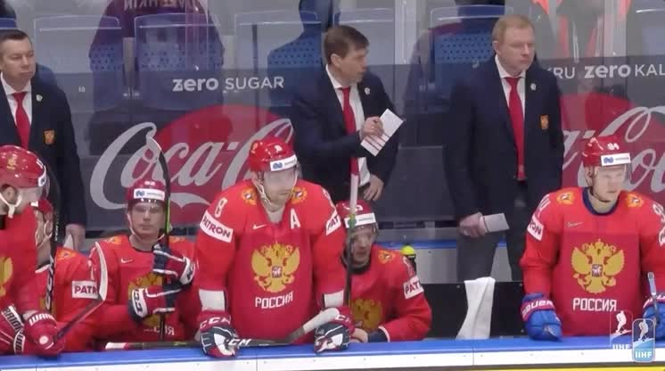 Ovechkin saves teammate on bench from puck GIFs
