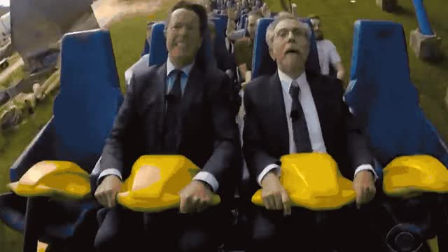 Watch and share Stephen Colbert GIFs and Roller Coaster GIFs by Reactions on Gfycat