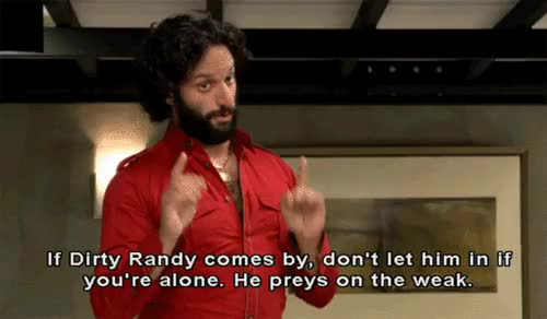 Watch Rafi and Dirty Randy GIF on Gfycat. Discover more jason mantzoukas GIFs on Gfycat