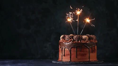 birthday, birthday cake, birthday candles, happy birthday, kitchenghosts, sparklers, Happy Birthday GIFs
