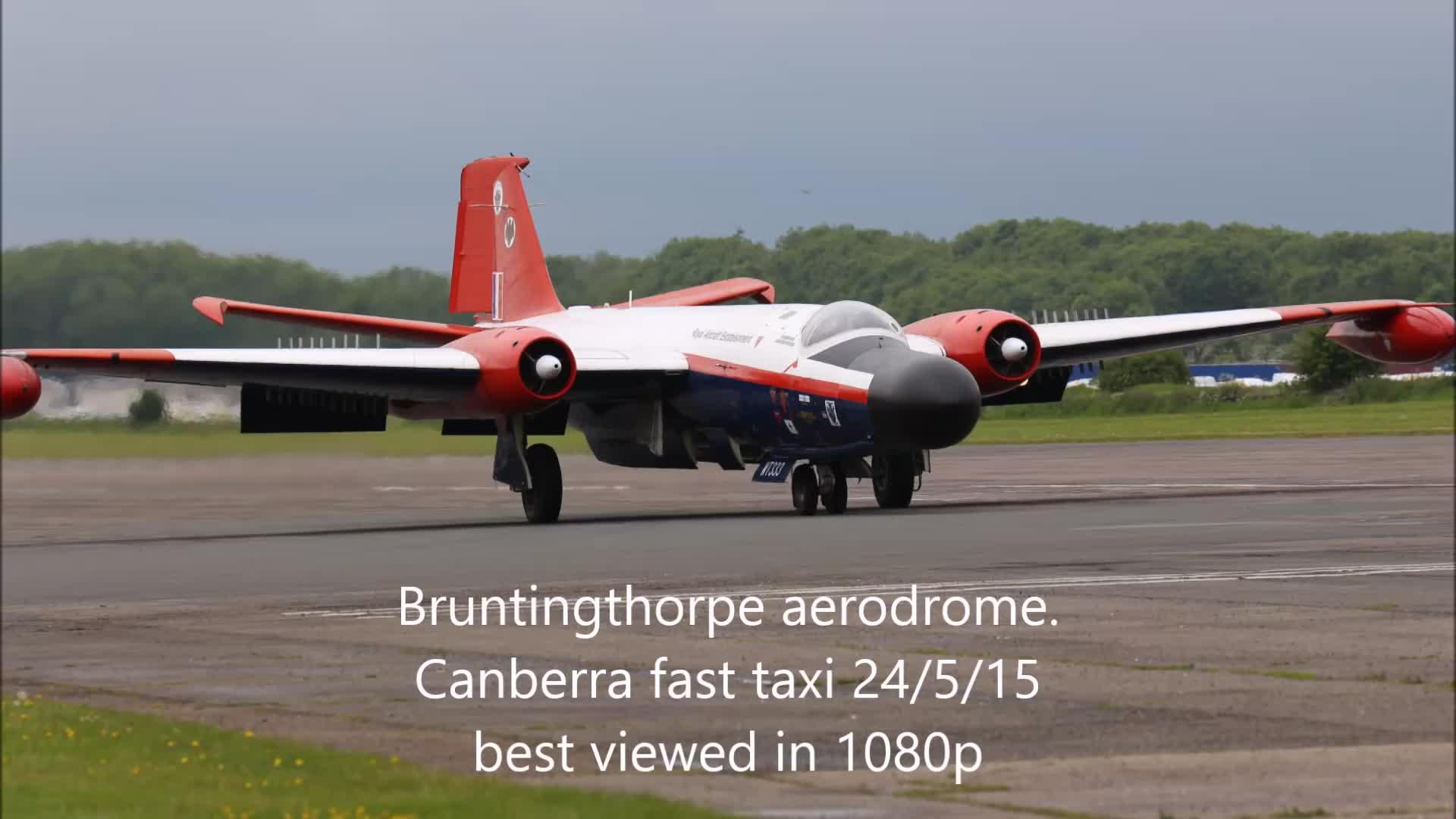 Bruntingthorpe Aerodrome (Airport), aviation, bruntingthorpe, E.E. Canberra cartridge start/taxi at Bruntingthorpe 24/5/15 GIFs