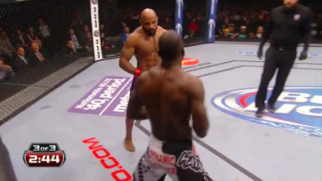 Watch Yoel Romero stalks and hurts Derek Brunson in the third round of their bout. GIF on Gfycat. Discover more related GIFs on Gfycat