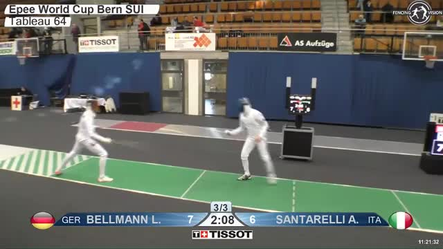 Watch BELLMANN Lr 8 GIF by Scott Dubinsky (@fencingdatabase) on Gfycat. Discover more gender:, leftname: BELLMANN Lr, leftscore: 8, rightname: iANTARELLl A, rightscore: 6, time: 00006757, touch: left, tournament:, weapon: epee GIFs on Gfycat