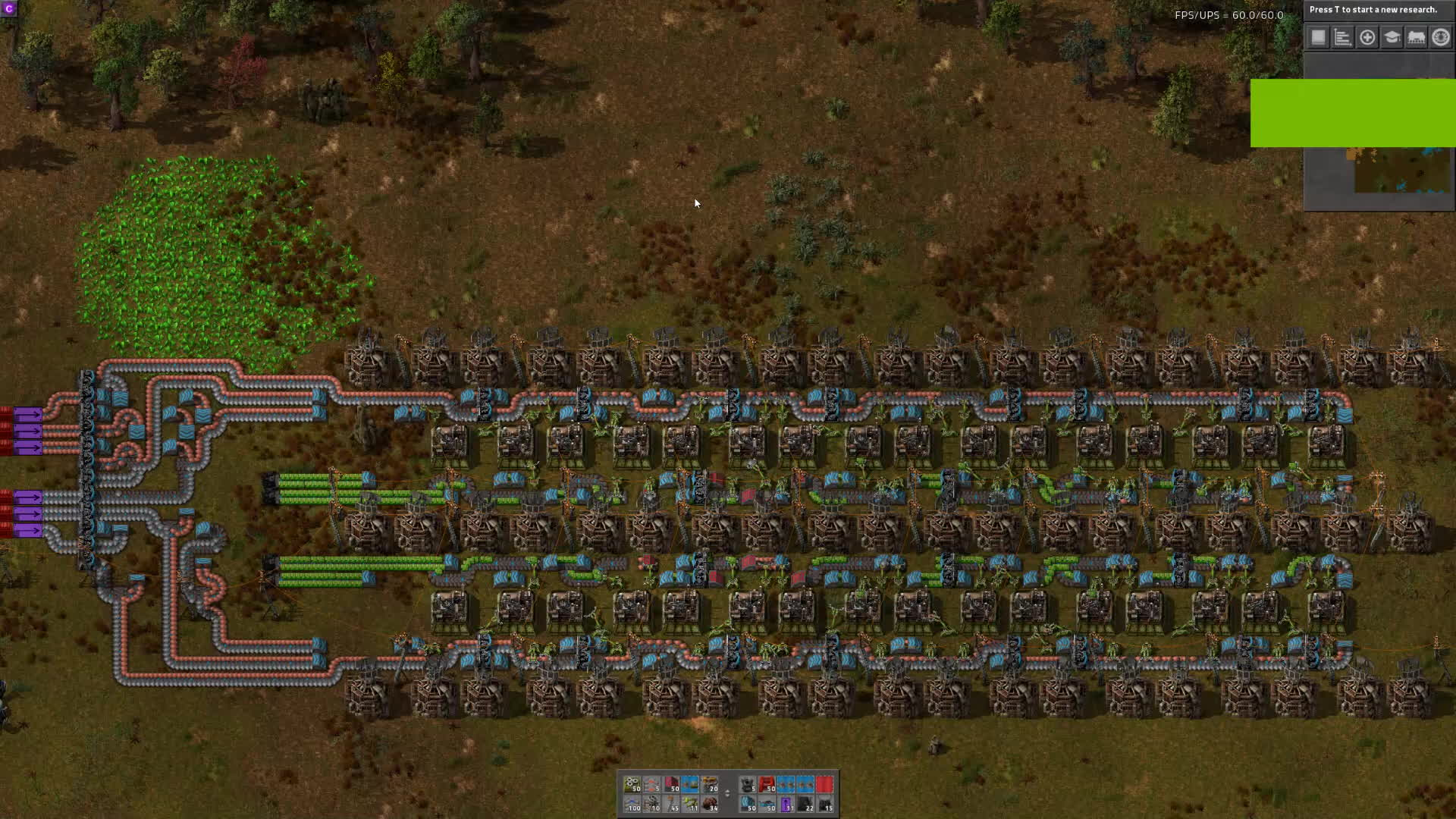 My Attempt At Beaconed Tileable Green Circuit Production 0 15 Reddit
