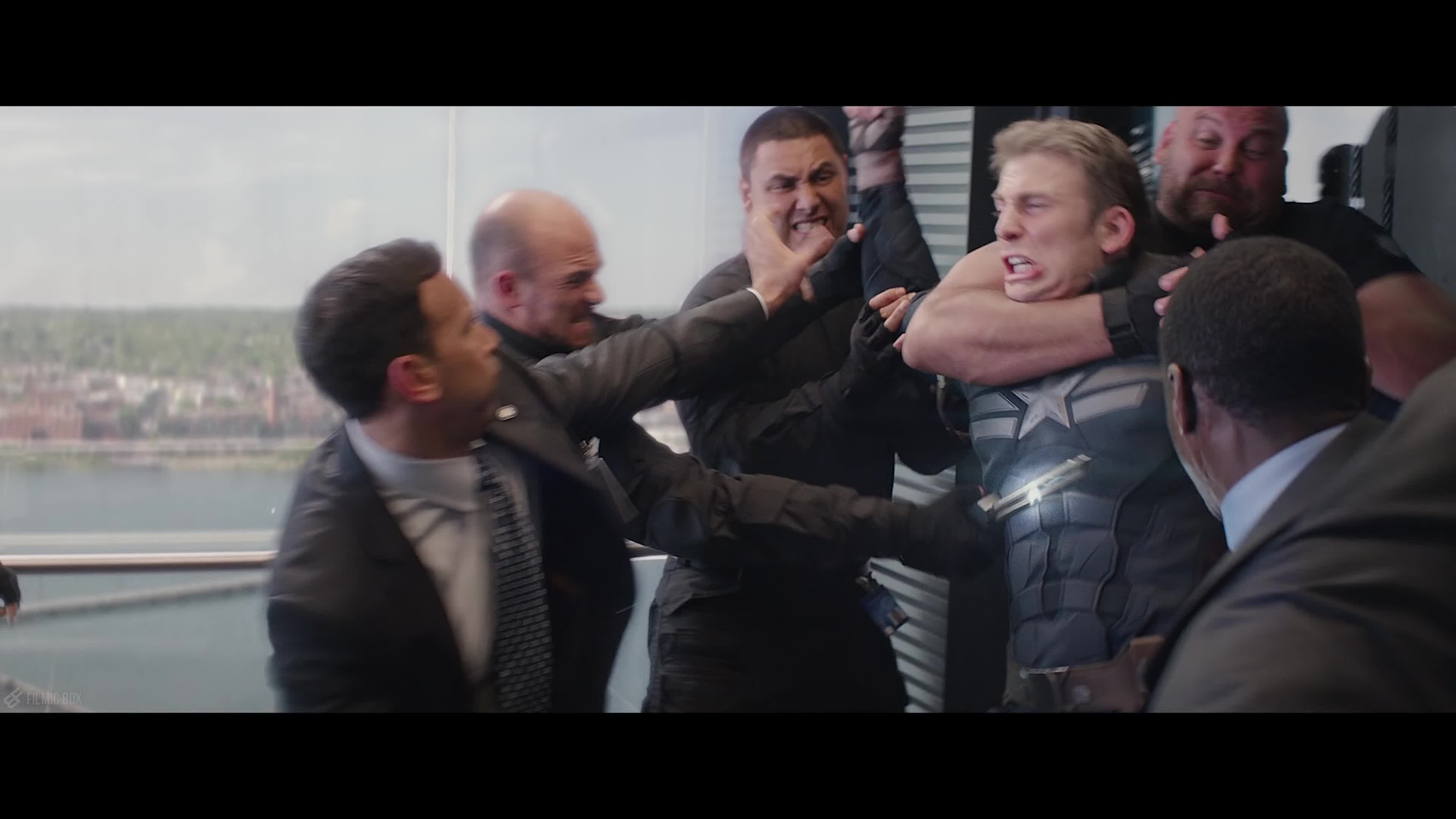 Image result for captain america winter soldier elevator