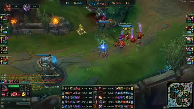 Late Game Trist Teamfight into Pentakill