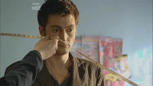 """Watch and share Mizgnomer: """" Tape Measuring David Tennant On The Set Of Doctor Who """" GIFs on Gfycat"""
