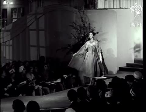 Watch Fashion House (1950-1969) GIF on Gfycat. Discover more 13, 3339, Antique, Hats, Modelling, britishpathe, design, documentary, fashion, fashionshow, footage, mannequins, milliners, newsreel, reuters, vintage, vintageclothing GIFs on Gfycat