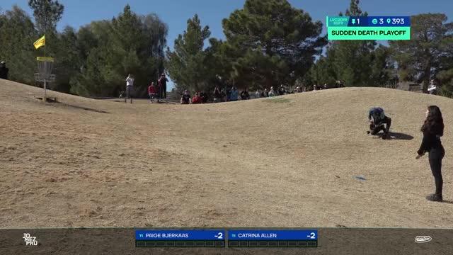 Watch 2019 LVC | FINAL ROUND| Paige Bjerkaas playoff hole 1 putt GIF by Benn Wineka UWDG (@bennwineka) on Gfycat. Discover more Sports, disc golf, disc golf 2019, jomez disc golf, jomez productions, jomezpro GIFs on Gfycat