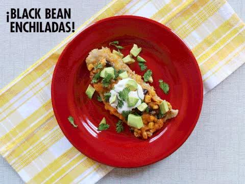 Watch and share Black Bean Enchiladas GIFs by tastygifrecipes on Gfycat