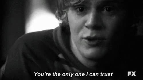 Watch and share Tate Langdon GIFs and Ahs Quotes GIFs on Gfycat