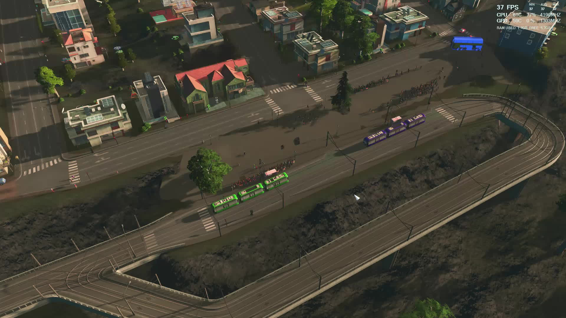 citiesskylines, Lots of people coming to ride tram by bus GIFs