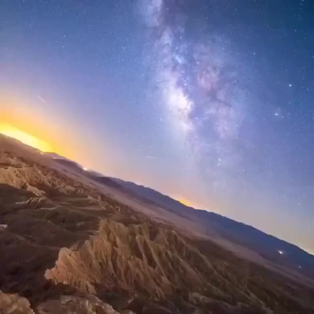 Watch and share Milky Way Stabilized Shows The Earth Is Spinning Through Space GIFs by MyNameGifOreilly on Gfycat