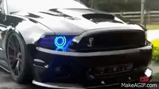 Watch and share Ford Mustang Shelby Cobra Spit Nitrous GIFs on Gfycat