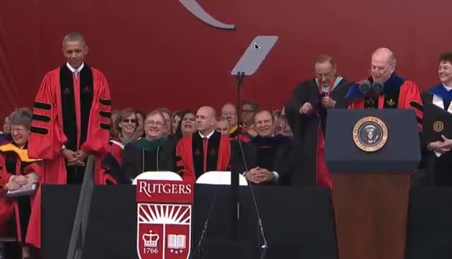 President Obama's full speech at Rutgers commencement GIFs