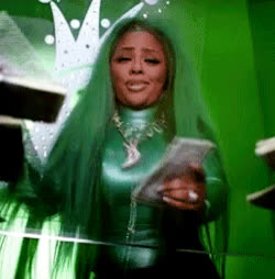 bbhmm, came back for you, dgaf, dollar bills, lil kim, money, pay day, prime day, stacks, Lil' Kim - Came Back For You GIFs