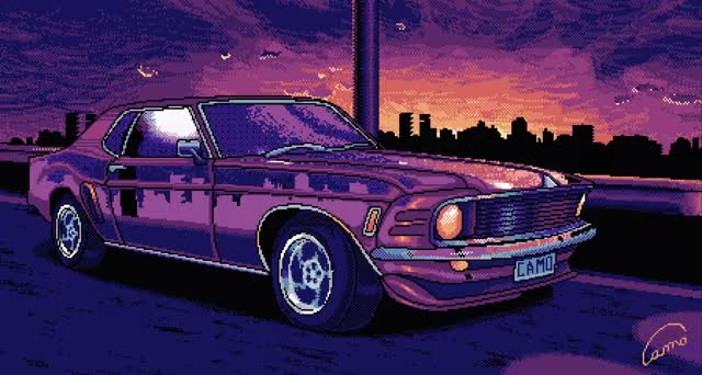 Watch and share 16-Bit Mustang GIFs by Spooktacular Moe on Gfycat