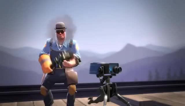 Watch and share Tf2 Unusual Showcase: Steaming Modest Pile Of Hat GIFs on Gfycat