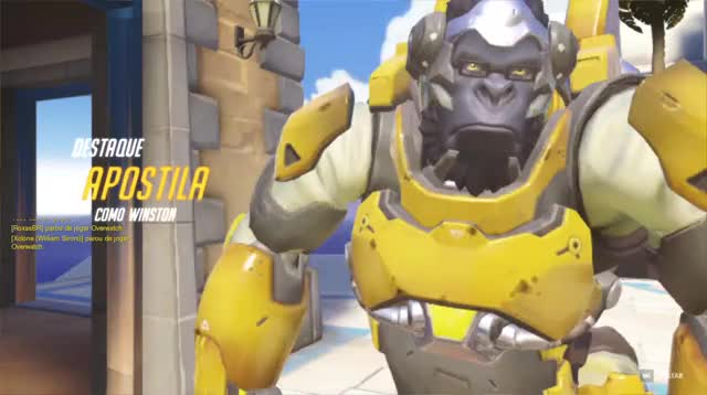 Watch and share Overwatch GIFs and Winston GIFs by Wesley Alves Lemos on Gfycat