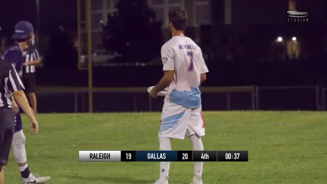 Watch Dalton Smith Game Sealing Block — 2018 AUDL Playoffs GIF by American Ultimate Disc League (@audl) on Gfycat. Discover more Sports, TheAUDLChannel, american ultimate disc league, audl, dallas roughnecks, highlights, raleigh flyers, ultimate frisbee GIFs on Gfycat