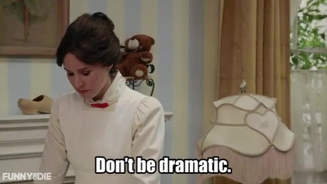 Watch dramatic GIF by funnyordie on Gfycat. Discover more FoD, Funny or Die, Mary Poppins Quits, funnyordie, kristen bell GIFs on Gfycat