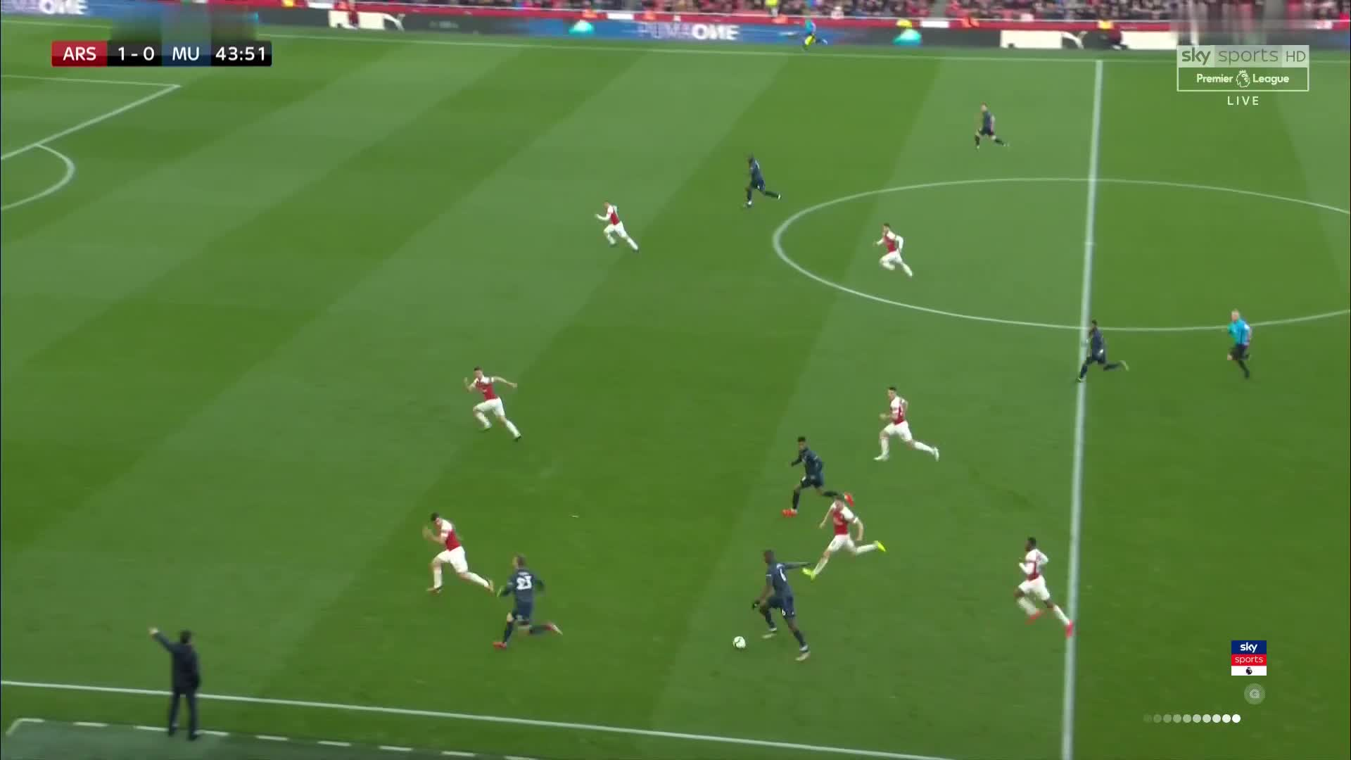 United Build Up Play V Arsenal GIF