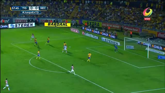 Watch and share Gol De Edson Puch | Tigres 0-1 Necaxa | Televisa Deportes GIFs on Gfycat
