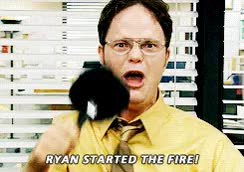 Watch the office, fire, dwight schrute GIF on Gfycat. Discover more rainn wilson GIFs on Gfycat