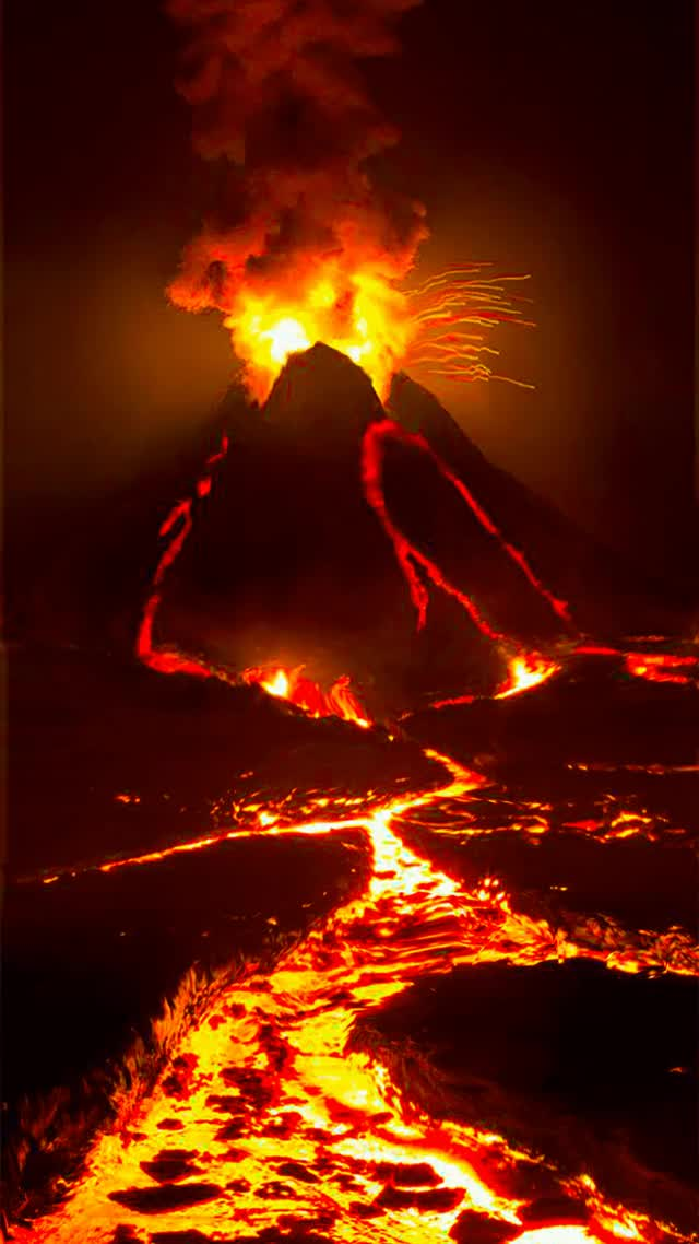 Watch and share Volcano GIFs and Magma GIFs by Groovy Trips on Gfycat