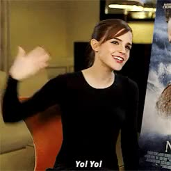 Watch this emma watson GIF on Gfycat. Discover more 1k, celebs, emma watson, emwedits, emygif, gif, interview, she's so adorable GIFs on Gfycat