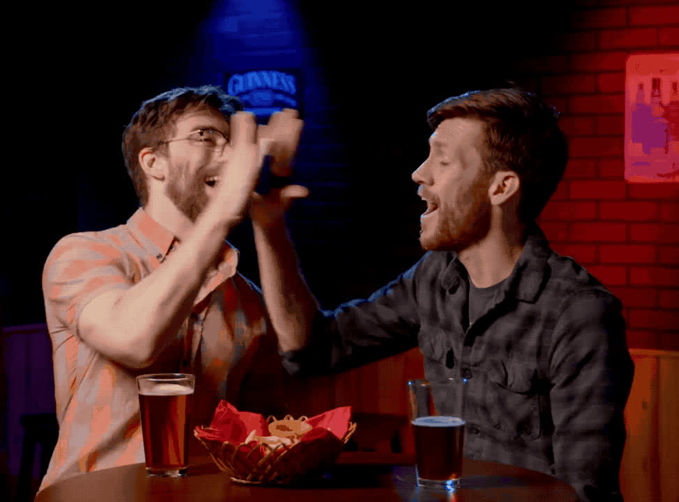 bros, confetti, high five, Confetti High Five GIFs