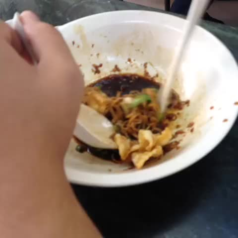 Watch and share Pork Chop Noodle Nom Nom GIFs by cheeaun on Gfycat
