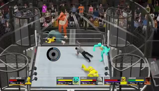 "Watch ""Homero Simpson VS Pokemon GO"" - (WWE World Heavyweight Championship) GIF on Gfycat. Discover more related GIFs on Gfycat"