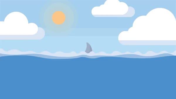 Watch Shark Waters GIF by Ryan Ratliff (@ryanratliff) on Gfycat. Discover more Cartoon, Loop, Shark, infested, ocean, sharkwaters, waters GIFs on Gfycat