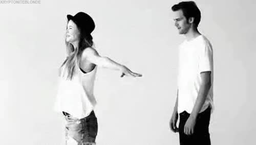 Watch and share Behati Prinsloo Black And White Gif GIFs on Gfycat