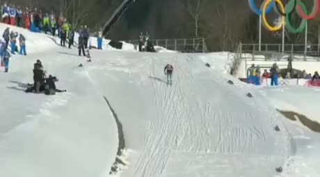 Watch and share The Coach Of The Canadian National Team Helped The Skier From Russia. GIFs by esberat on Gfycat