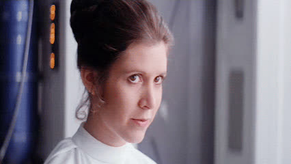 blush, blushing, cute, flirt, princess leia, smile, star wars, Princess Leia Blushing GIFs
