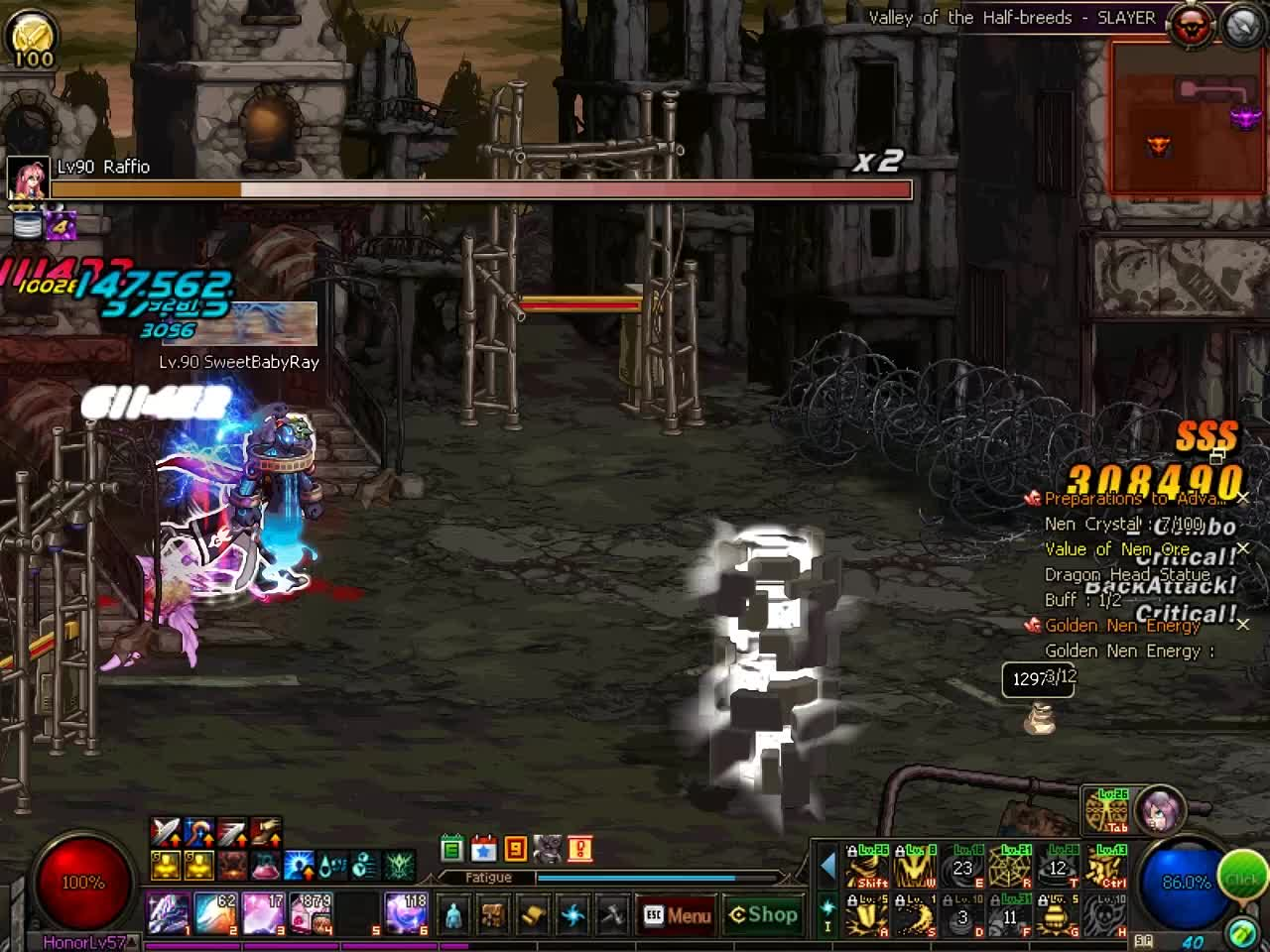 60fps, DFO, gaming, mmorpg, DFO Hell Mode Vol.88 GIFs