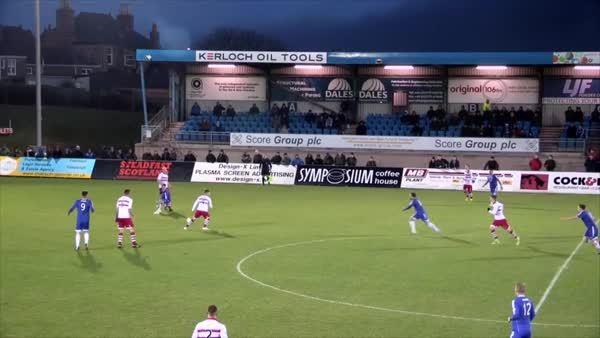 ScottishFootball, Jamie Stevenson's winner for Peterhead, after a back-heeled through ball (reddit) GIFs