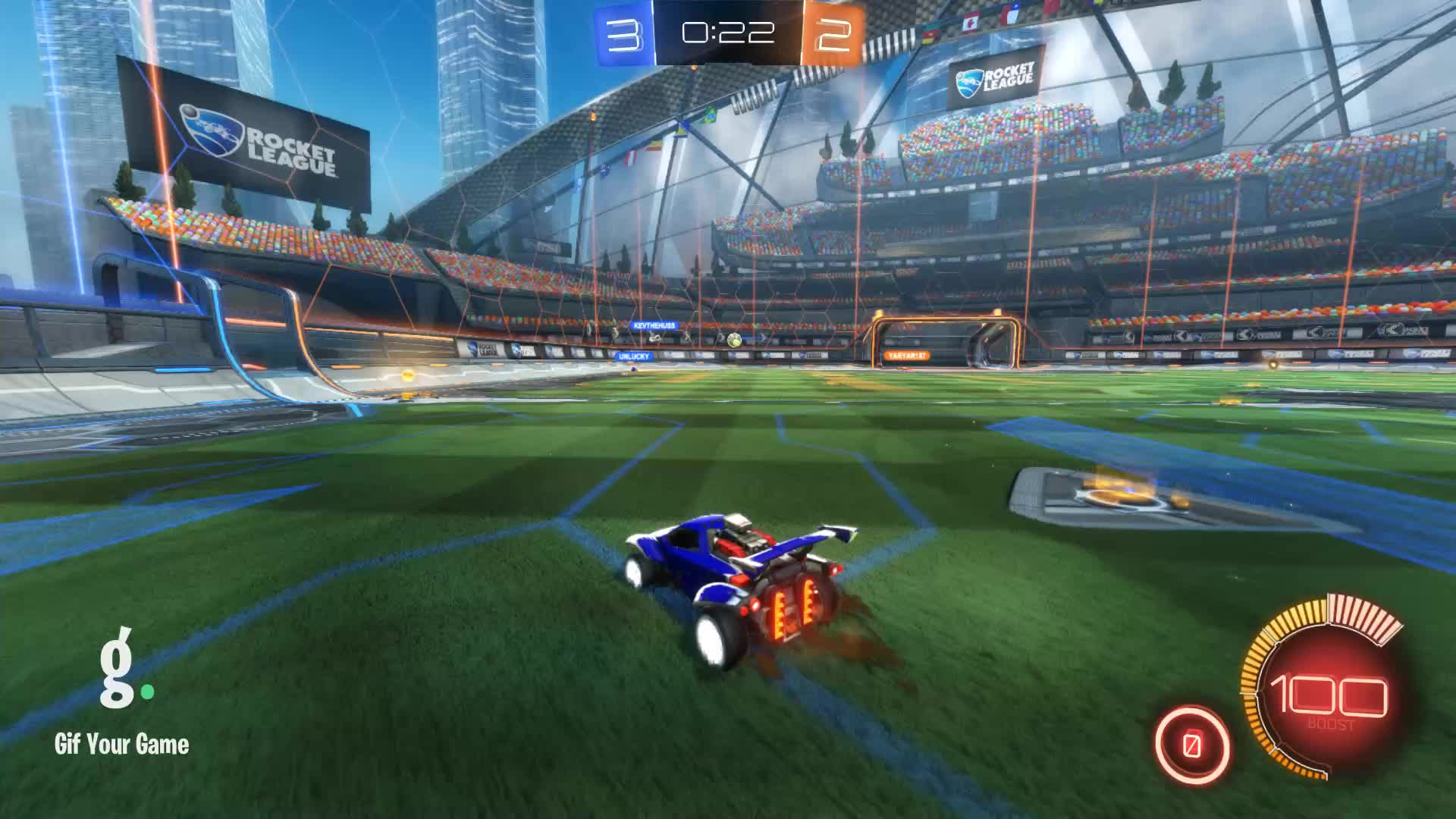 Gif Your Game, GifYourGame, Goal, Horizon, Rocket League, RocketLeague, Goal 6: Horizon GIFs