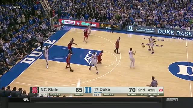 Watch and share NC State Wolfpack Vs Duke Blue Devils Basketball 2017 (Jan. 23) GIFs on Gfycat