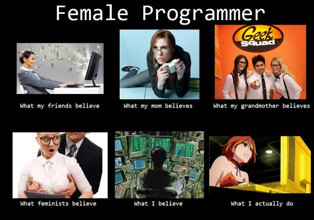 Watch and share Female Programmer GIFs on Gfycat