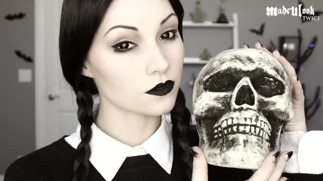 Watch Wednesday Addams Makeup Tutorial GIF on Gfycat. Discover more Wednesday Addams (Film Character
