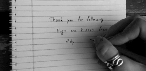 I hate it, It's so ugly, excuse my handwriting, i love you all, personal, stuff, thank you, what have i done to deserve you?,  GIFs
