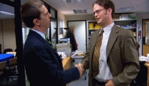 handshake, the office,  GIFs