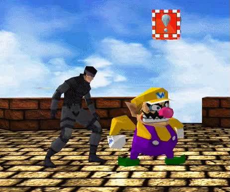 Watch and share Super Smash Bros. 64 Snake And Wario | Super Smash Brothers GIFs on Gfycat