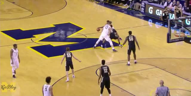 Watch and share Derrick Walton GIFs and Moritz Wagner GIFs by MGoBlog on Gfycat