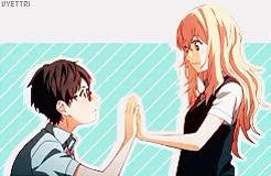 Watch  it may be love? GIF on Gfycat. Discover more anime, kaori, kaori miyazono, kaori x kousei, kousei, kousei arima, love, manga, shigatsu wa kimi no uso GIFs on Gfycat